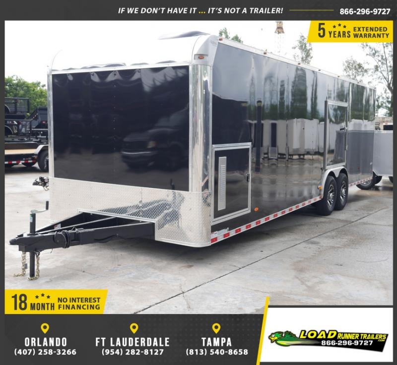 *E13-Race* 8.5x28 RACE CAR ENCLOSED CARGO TRAILER |LR TRAILERS 8.5 x 28 | EF8.5-28T7-RACE