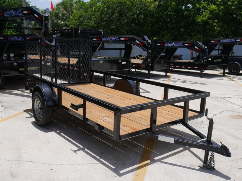 "*U42* 6x12 Utility Trailer with Ramp and 14""  Tube Rail 6 x 12 