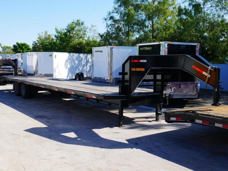 *107793* 8.5x36 Gooseneck Flatbed Deck Over Trailer w/Mega Ramps |LR Trailers 8.5 x 36 | FG102-36T10-LP/MPD