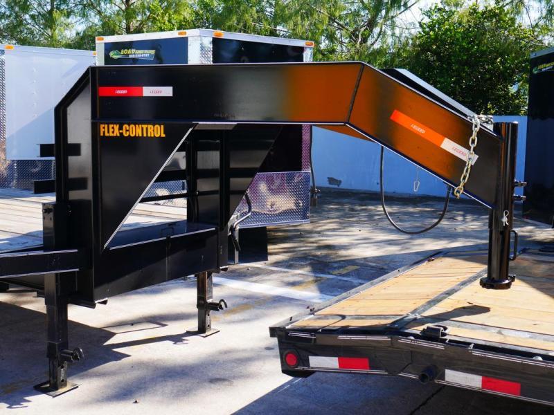*107793* 8.5x36 Gooseneck Flatbed Deck Over Trailer w/Mega Ramps  LR Trailers 8.5 x 36   FG102-36T10-LP/MPD