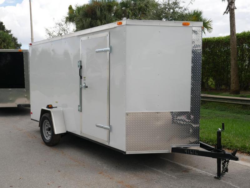 *108044* 6x12 Enclosed Cargo & Storage Trailer |Black Haulers & Trailers 6 x 12 | EV6-12S3-R