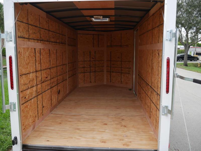 *108044* 6x12 Enclosed Cargo & Storage Trailer |Black Haulers & Trailers 6 x 12