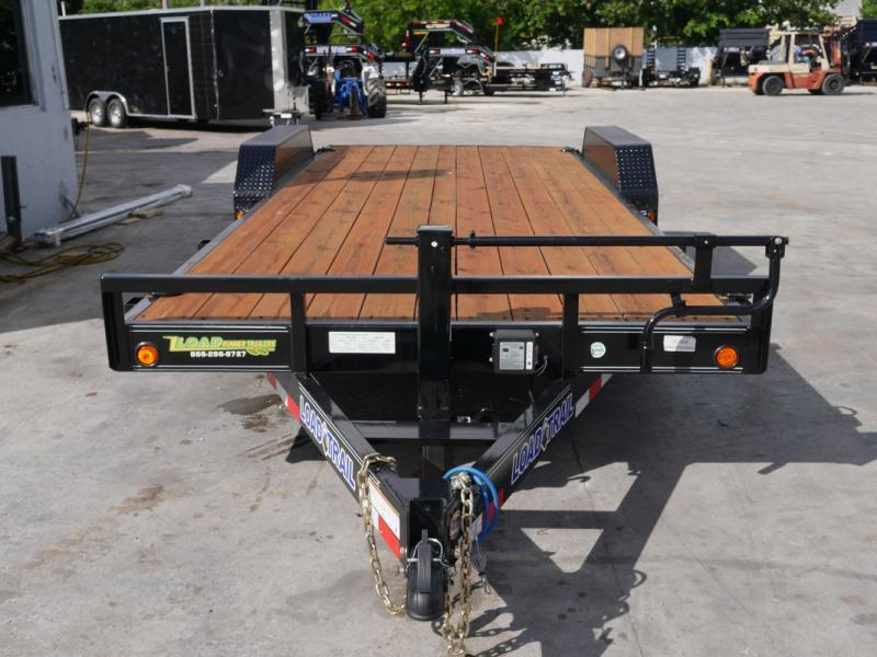*107081* 7x20 Load Trail Car Trailer  LRT Tandem Axle Trailers 7 x 20