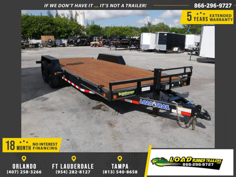 *107081* 7x20 Load Trail Car Trailer |LRT Tandem Axle Trailers 7 x 20
