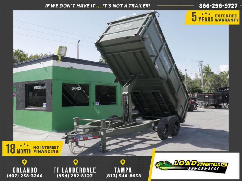 *108554* 7x16 Dump Trailer |LRT Tandem Axle Trailers 7 x 16
