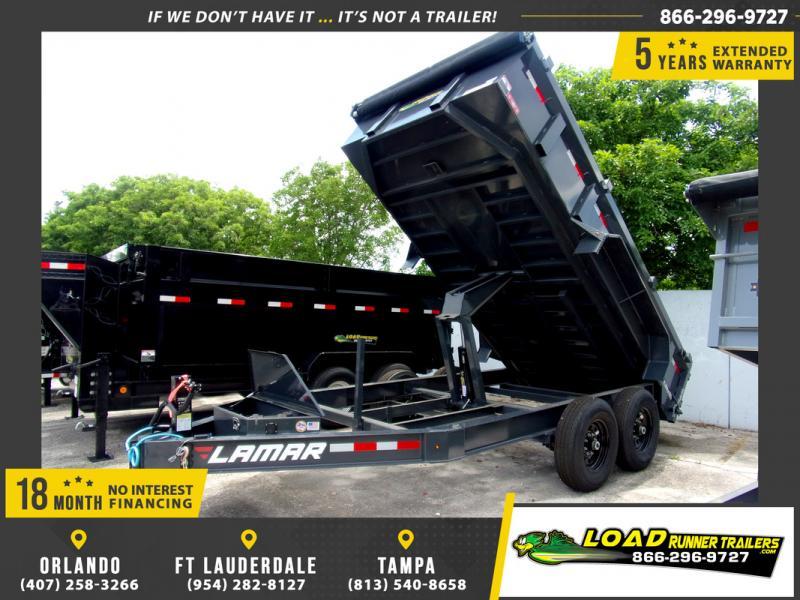 *109301* 7x14 Dump Trailer |LRT Tandem Axle Trailers 7 x 14