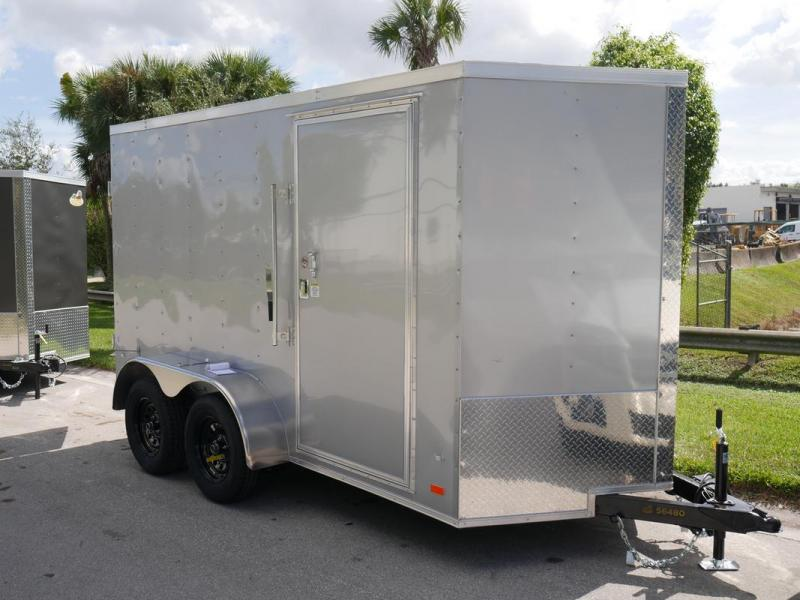 *108114* 6x12 Enclosed Cargo Trailer w/Heavy Duty Barlock |1 Piece Aluminum Roof 6 x 12 | EV6-12T3-R