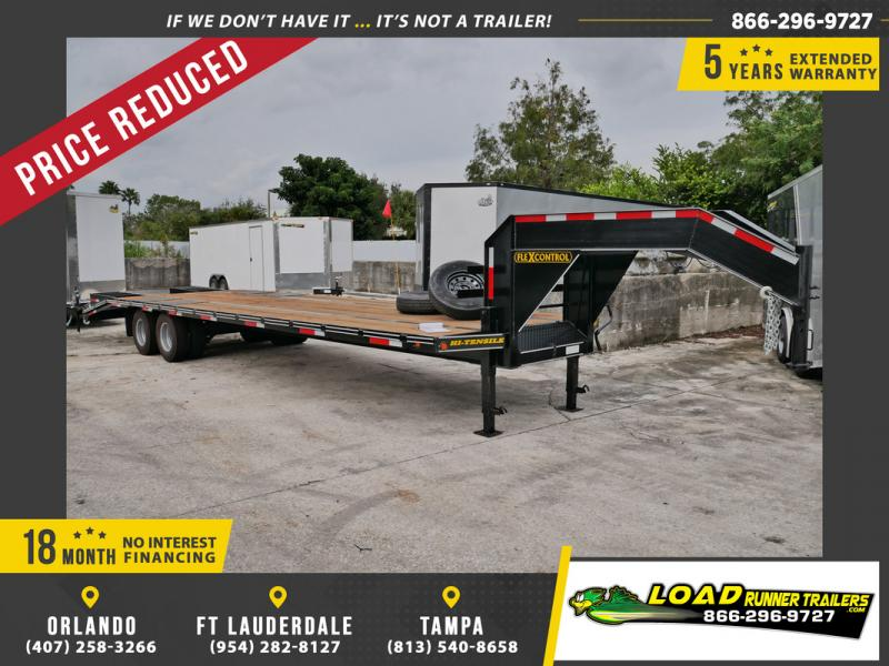 *106407* 8.5x32 Gooseneck Flatbed Deck Over Trailer |LRT Haulers & Trailers 8.5 x 32