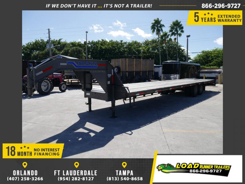 *107925* 8.5x36 Gooseneck Flatbed Deck Over Trailer |LRT Haulers & Trailers 8.5 x 36