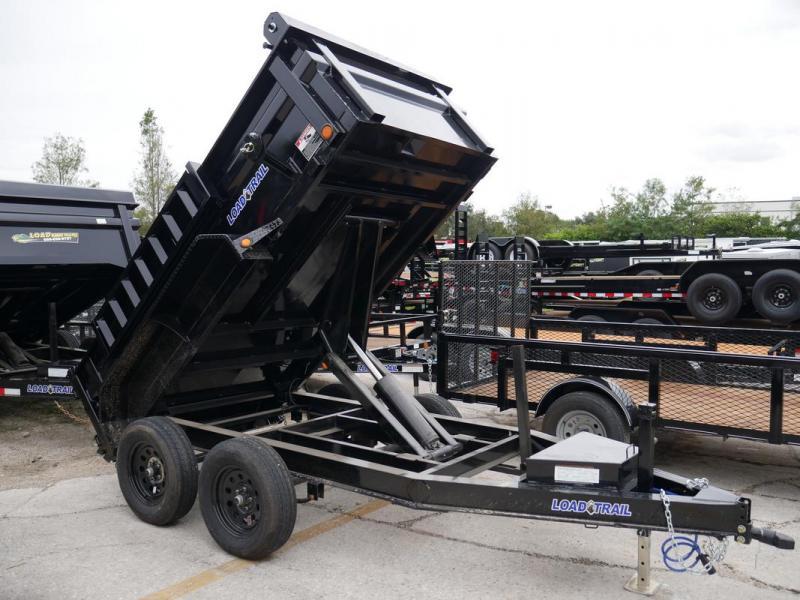 *108105* 5x10 Load Trail Dump Trailer |LRT Tandem Axle Trailers 5 x 10
