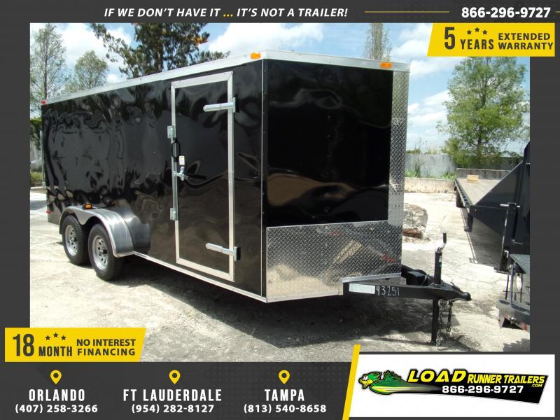 *108849* 7x16 Enclosed Cargo Trailer |LRT Tandem Axle Trailers 7 x 16