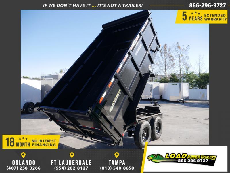 *108478* 7x14 Dump Trailer |LRT Tandem Axle Trailers 7 x 14