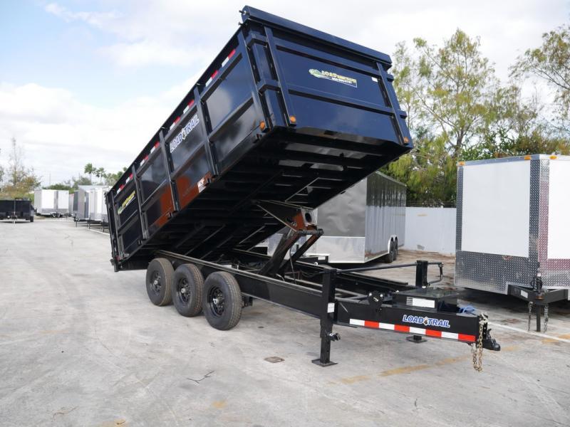 *107778* 8x16 Triple Axle Dump Trailer w/4' Sides LRT Trailers 8 x 16