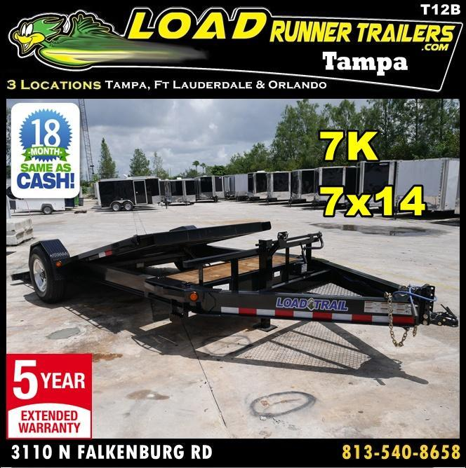 *T12B* 7x14 7K Tilt Deck Car/Equipment Hauler Trailer 7 x 14 | T83-12+2S7T-GT