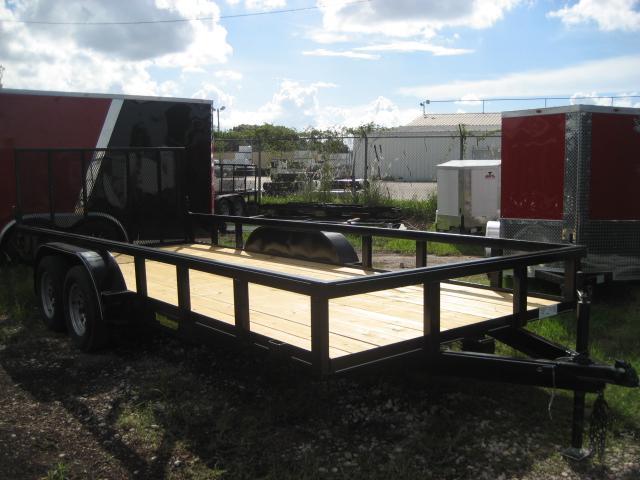 *U27* 7x18 Utility Trailer Tandem Axle Trailers 7 x 18 | U82-18T3-1B-TR
