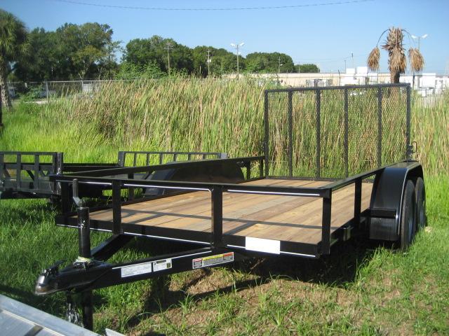 *U43* 6x12 Utility Trailer Tandem 3500 lb Axles 6 x 12 | U76-12T3-0B-TR
