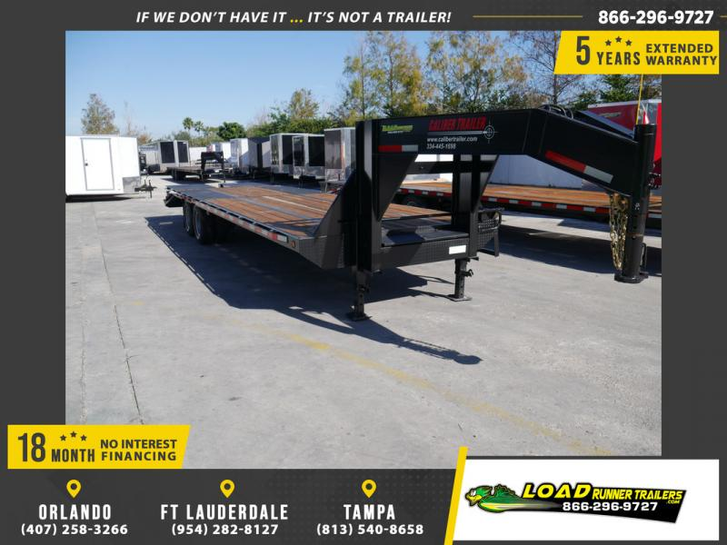 *106356* 8.5x30 Gooseneck Flatbed Deck Over Trailer |LRT Trailers 8.5 x 30