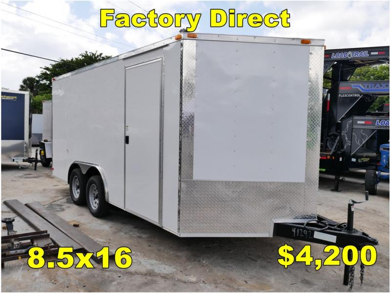 *FD29* 8.5x16 FACTORY DIRECT! | Enclosed Cargo Trailer 8.5 x 16
