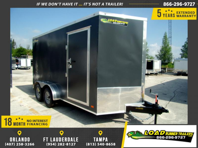 *109581* 7x14 Enclosed Cargo Trailer |LRT Tandem Axle Trailers 7 x 14