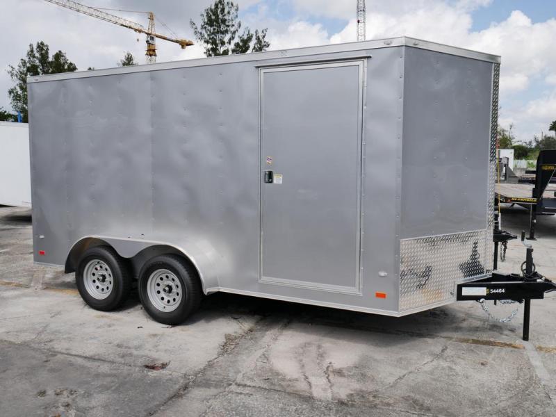 *107830* 7x14 Enclosed Cargo Trailer |LRT Tandem Axle Trailers 7 x 14 | EV7-14T3-R