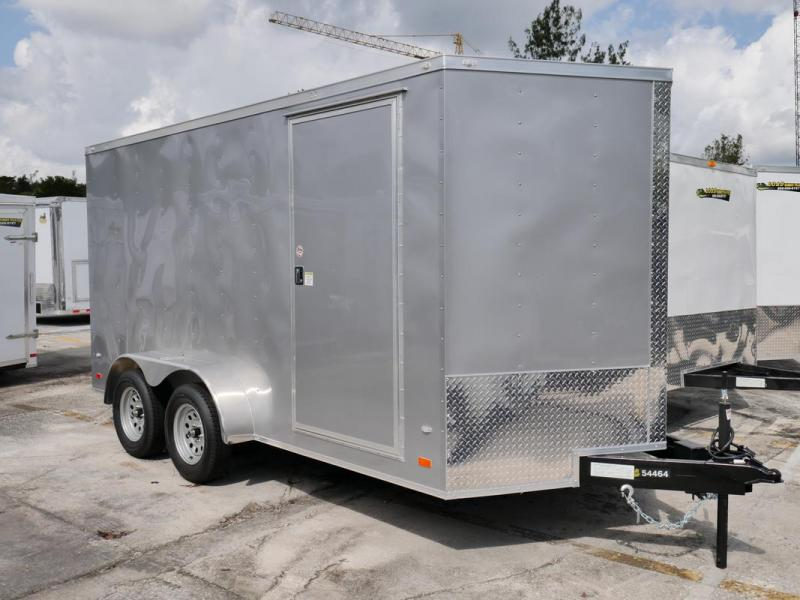 *107830* 7x14 Enclosed Cargo Trailer |LRT Tandem Axle Trailers 7 x 14