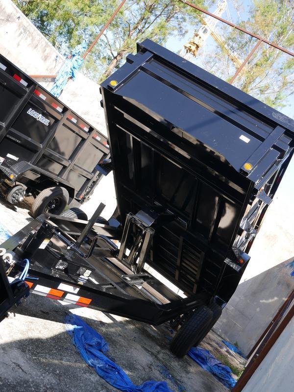 *107525* 7x14 Dump Trailer |LRT Tandem Axle Trailers 7 x 14
