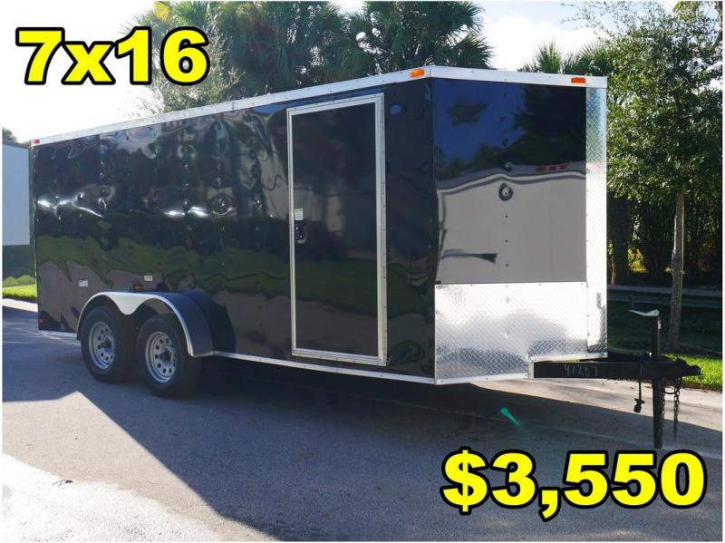 *FD09 ORL* 7x16 FACTORY DIRECT!| Enclosed Cargo Trailer |Trailers 7 x 16