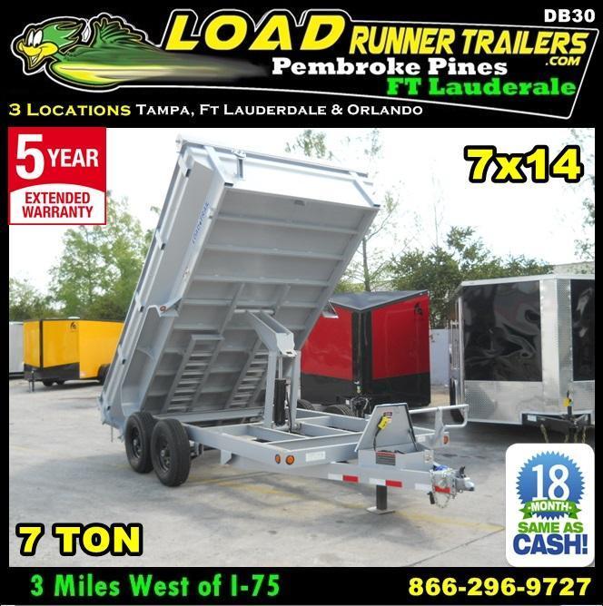 *DB30* 7x14 7 TON Dump Trailer KING/Flared Sides Trailers 7 x 14   DK83-14T7-24S