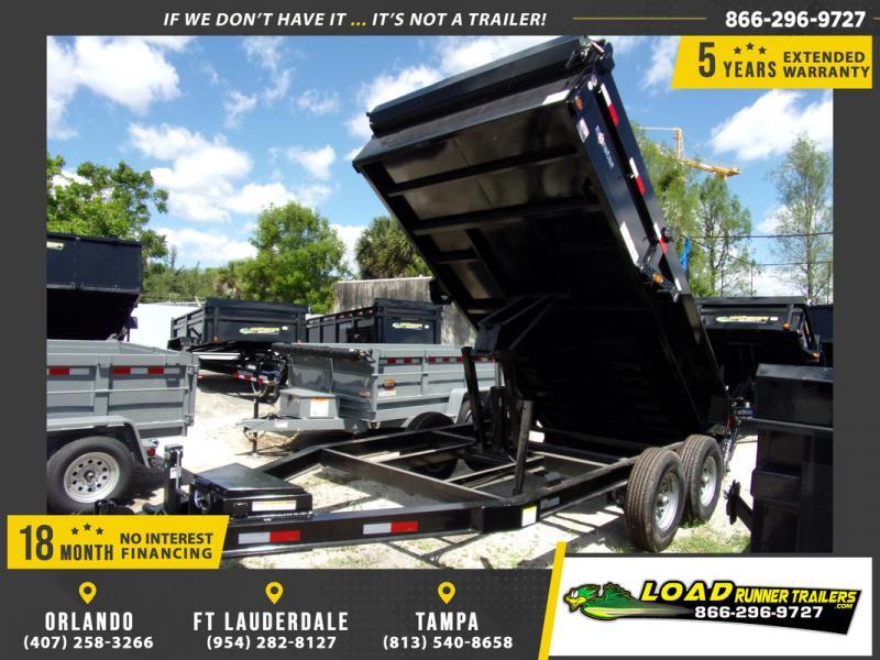 *108556* 7x14 7 TON Dump Trailer |LRT Trailers 7 x 14