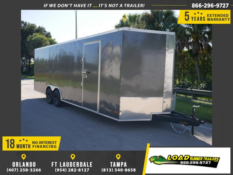 *108138* 8.5x24 Enclosed Cargo Trailer |LRT Tandem Axle Trailers 8.5 x 24