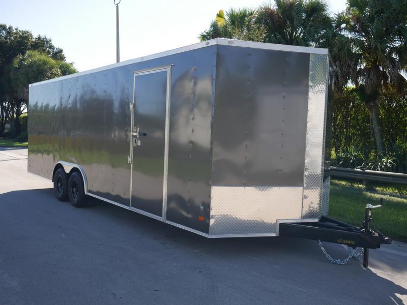 *108138* 8.5x24 Enclosed Cargo Trailer |LRT Tandem Axle Trailers 8.5 x 24