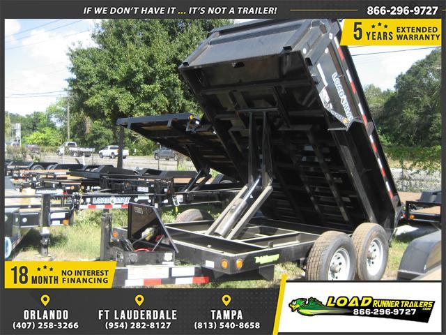 *DB14* 6x10 5k Load Trail Dump Trailer Tandem Axle Trailers 6 x 10 | D72-10T5-24S
