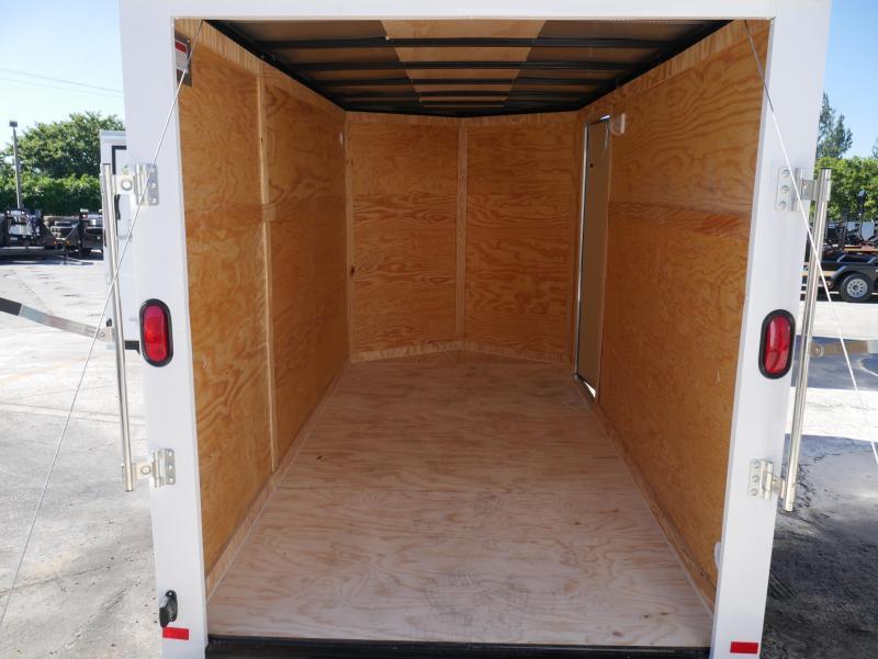 *E4J* 6X12  Enclosed Cargo Trailer LR Camping Trailers 6 x 12 | EV6-12S3-R