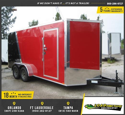 *E9B* 7x16 Enclosed Cargo Trailer Tandem Axle Hauler 7 x 16   EV7-16T3-DD