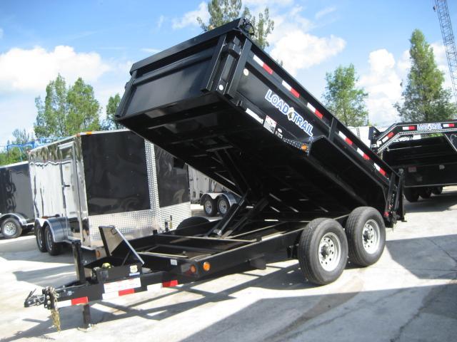 *DB19D* 7x14 7 TON Load Trail Dump Trailer |Dumps & Trailers 7 x 14 | D83-14T7-24S