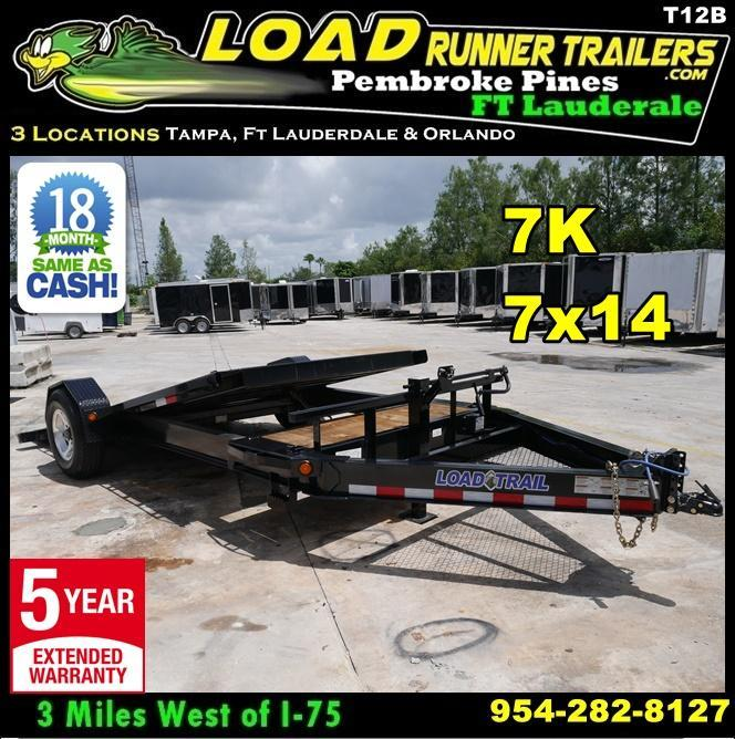 *T12B* 7x14 7K Tilt Deck Car/Equipment Hauler Trailer 7 x 14 | T83-12+2S7T-GT