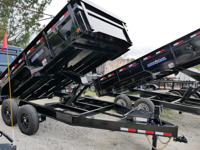 *107799* 7x14 Load Trail Dump Trailer |LRT Tandem Axle Trailers 7 x 14 | D83-14T7-24S