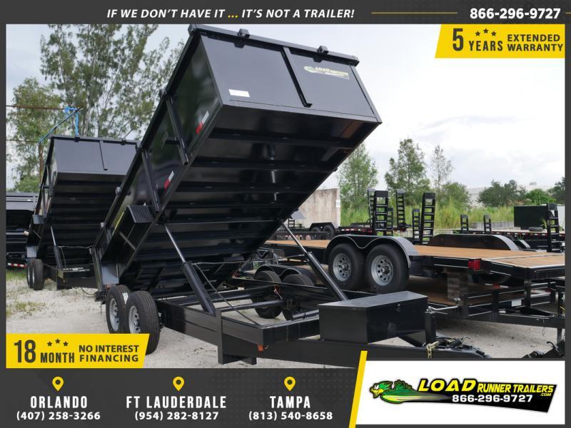 *DB58* 7x16 7 TON W/3' Walls Dump Trailer Bumper Pull Trailers 7 x 16   D82-16T7-36S