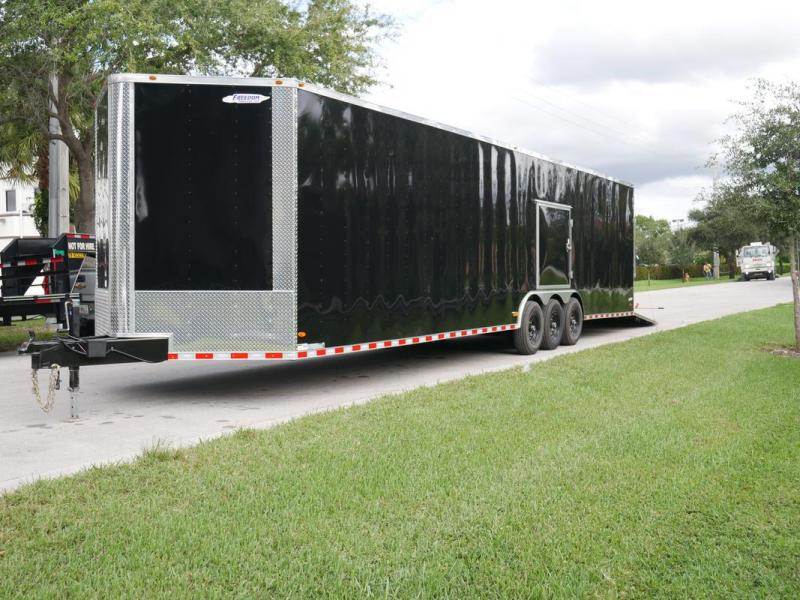 *EV36B* 8.5x36 Enclosed Cargo Trailer Car Hauler Trailers 8.5 x 36 | EV8.5-36TT7-R