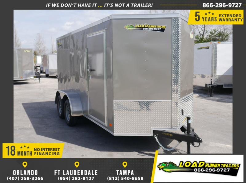 *108844* 6x14 Enclosed Cargo Trailer |LRT Tandem Axle Trailers 6 x 14
