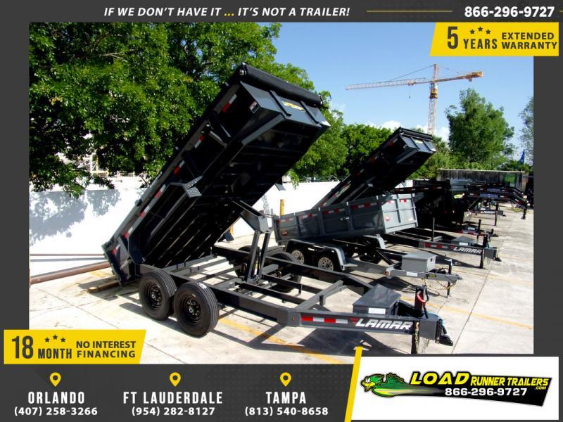 *109282* 7x14 Dump Trailer |LRT Tandem Axle Trailers 7 x 14
