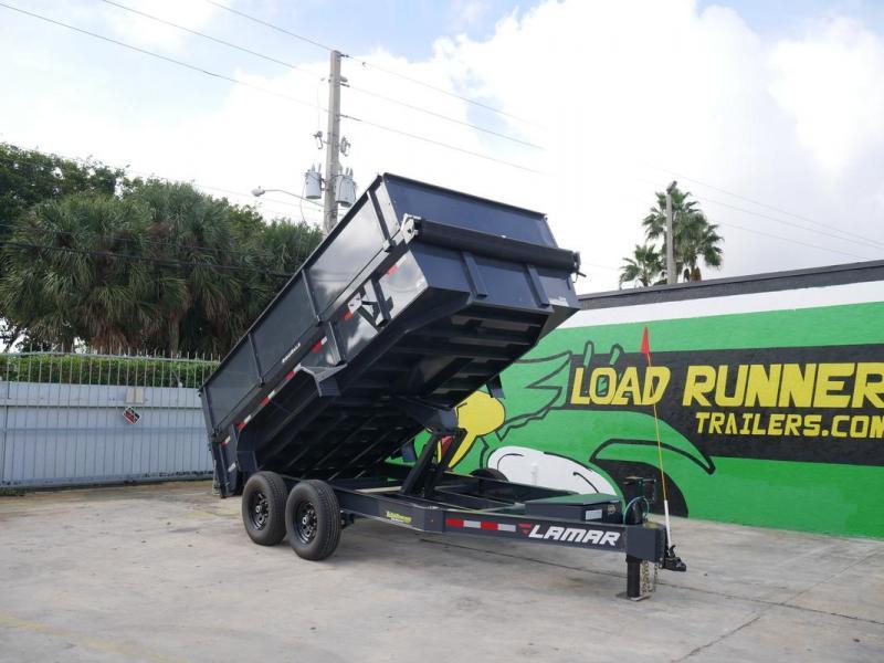 *105652* 7x14 Lamar 7 TON Dump Trailer w/4' Sides 7 x 14