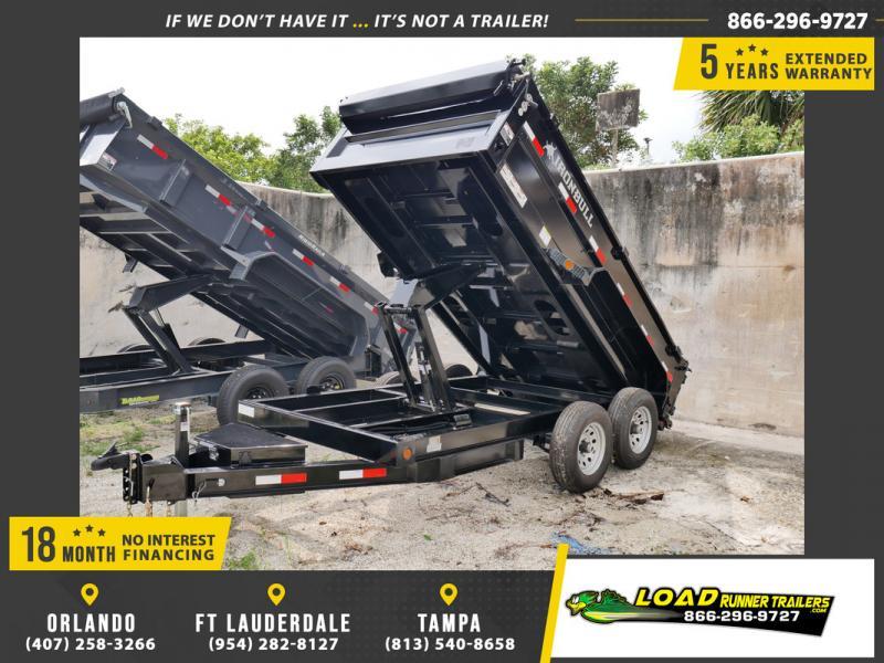 *107539* 6x12 IRON BULL Dump Trailer |LRT Tandem Axle Trailers 6 x 12