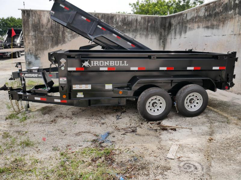 *107539* 6x12 IRON BULL Dump Trailer  LRT Tandem Axle Trailers 6 x 12