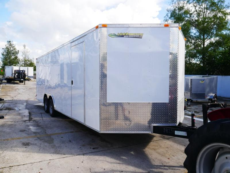 *106609* 8.5x24 Enclosed Cargo Trailer | Tandem Axle Car Trailers 8.5 x 24