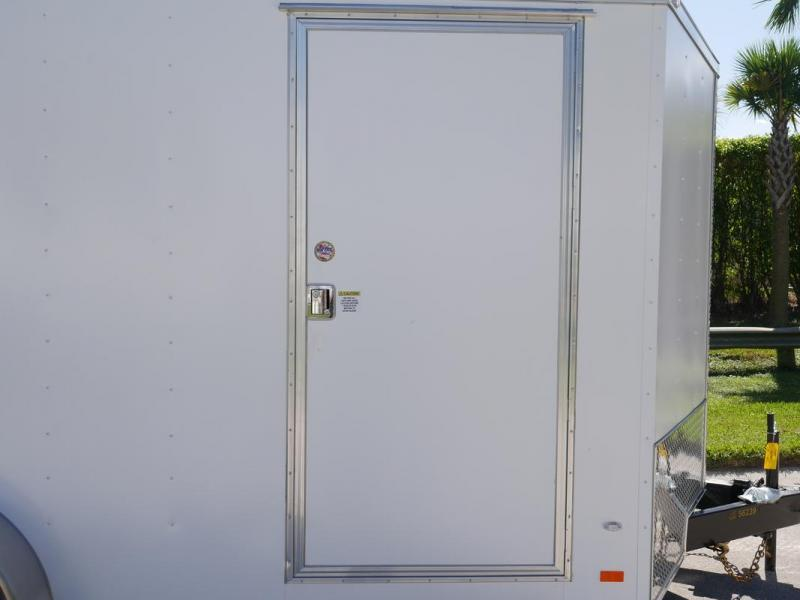 *108082* 7x16 Enclosed Cargo Trailer | TEXTURED SIDING | SCRATCH RESISTANT/HIDING 7 x 16