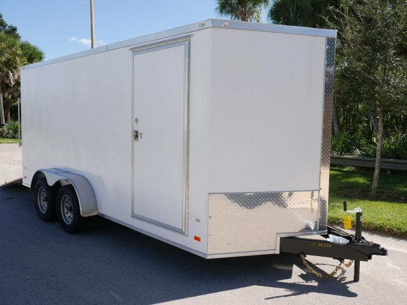 *108082* 7x16 Enclosed Cargo Trailer | TEXTURED SIDING | SCRATCH RESISTANT/HIDING 7 x 16 | EV7-16T3-R