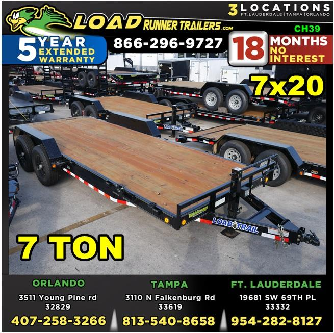 *CH39* 7x20 7 Ton Car Hauler Trailer   LR Haulers & Trailers 7 x 20   CH83-20T7