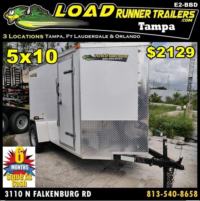 *E2-BBD* 5x10 Enclosed  Trailer Cargo Trailers 5 x 10 | EV5-10S3-D