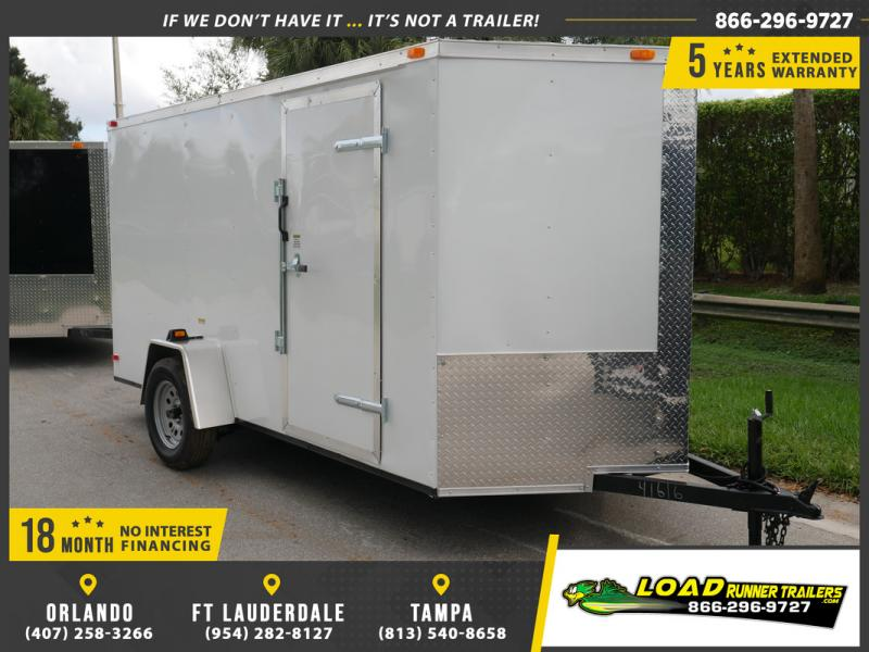 *E4-BB* 6x12 Enclosed Trailer Cargo L R Box Lawn Trailers 6 x 12 | EV6-12S3-R